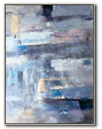 abstract painting on canvas vertical palette knife contemporary art colorful wall art violet ash grey blue  on colorful wall art canvas with abstract painting on canvas vertical palette knife contemporary art