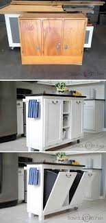 diy kitchen furniture. Awesome Makeover: DIY Projects \u0026 Tutorials To Repurpose Old Furniture Turn An Cabinet Useful Kitchen Island. Stunning From Diy