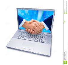 Business Computer Business Computer Services Handshake Stock Photo Image Of Finance