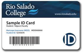 sample id cards college id card rio salado college