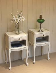 ... Gorgeous Vintage Bedside Tables with Worboys Antiques Clocks Pair Of  Vintage Painted Bedside Cabinets ...