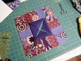 The Boardwalk Block (Free Quilt Block Pattern) - Craftfoxes & Quilting with triangles and strips, Boardwalk Block Adamdwight.com