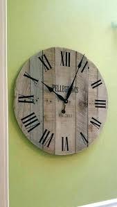 oversized rustic wall clocks rustic large