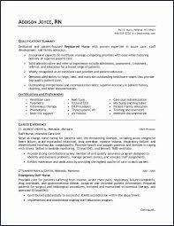 Staff Nurse Resume New Medical Surgical Nursing Certification