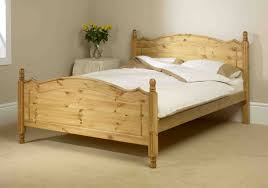 image of wood twin bed frame