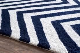 navy chevron rug 8x10