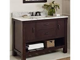 Open Shelf Vanity Bathroom Bathroom Adorable And Charming Bathroom Using 48 Inch Bathroom