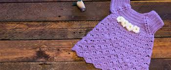 Purple Baby Dress Lanas Y Ovillos