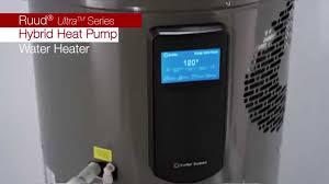 Heater Pump Installing A Ruud Ultra Series Hybrid Heat Pump Water Heater Youtube