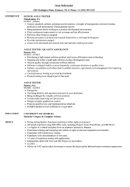 Software Tester Resume Sample Agile Tester Resume Samples Velvet Jobs 87