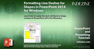 Powerpoint includes a basic set of tools for drawing shapes and lines onto a slide. Formatting Line Dashes For Shapes In Powerpoint 2016 For Windows