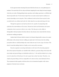 mla style essay reflection on descartes 4