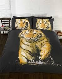 details about tiger orange yellow black white single duvet cover 135cm x 200cm