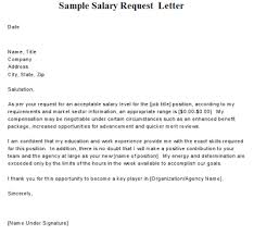 requesting a promotion letter salary review letter template