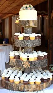 50 unique rustic fall wedding ideas tree stump cupcake stand