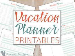 Free Trip Itinerary Planner Vacation Planner Printables