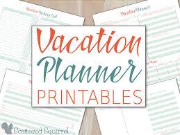 Make A Vacation Itinerary Vacation Planner Printables
