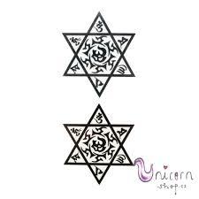 Nalepovací Tetování Ornamenty židovská Hvězda