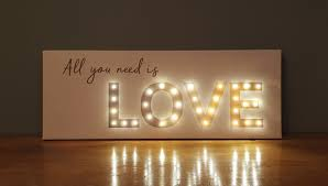 Battery Powered Light Up Letters Light Up Love All You Need Is Love Sign Battery Operated