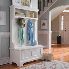 Hall Tree Coat Rack Storage Bench Keep your foyer or mud room organized with our Naples Hall Tree 42