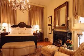fake fireplace bedroom traditional with elegant black shade