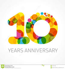 Template Anniversary Card 10 Years Old Anniversary Card Stock Vector Illustration Of