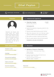 Resume Templates Teachers Resume Templates For Teachers Are The Skillful Way To