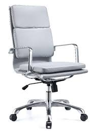 office chair genuine leather white. Leather High Back Office Chair Live Brown Genuine Ribbed White I