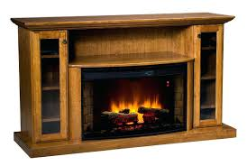 full image for rustic corner electric fireplace entertainment center made wood ashley