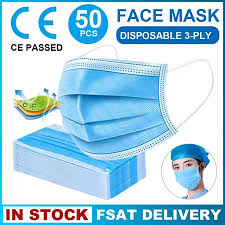 50/<b>100Pcs Masks</b> 3-Layers Filtration <b>Mask Disposable</b> Earloop Face ...