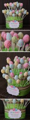 Cute easter themed gender reveal cake pops! Could be cute as just easter or  spring