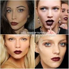 fall makup tutorial talk through how to look like a runway model vy lips you