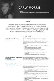 Senior Account Manager Resume samples