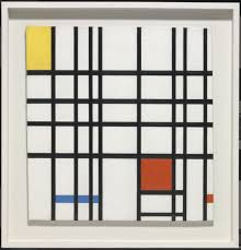 piet mondrian composition with yellow blue and red 1937 42