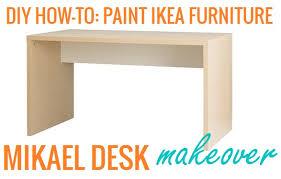paint ikea furniture mikael desk makeover