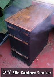 how to build a diy file cabinet smoker