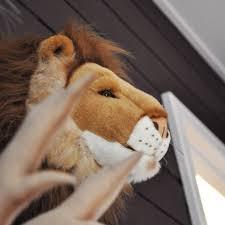 lion wall mount soft toy wild soft