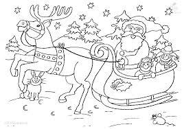 Kleurplaat Kerstman Met Slee