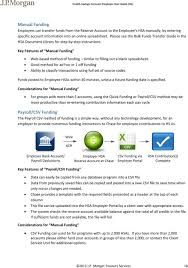 key features of manual funding web based method of funding similar to filling out a