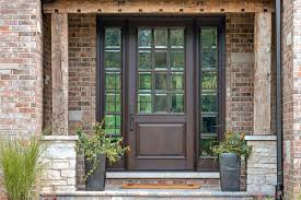 custom wood front entry doors custom solid mahogany wood door with two sidelites clear