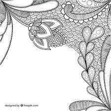 decoration drawing hand drawn fl decoration background free vector vector decoration of drawing room small board