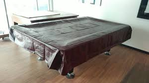 9ft leather pool table cover