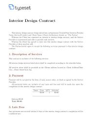 Design Contract Template Pdf Interior Design Contract Templates Orgsan Celikdemirsan Com