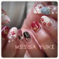 冬お正月浴衣パーティーハンド Yukiko Naitoのネイルデザインno
