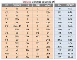 Shoe Size Conversion Chart Women Http Www Verytangostore Com Women Shoe Sizes Women Shoe