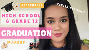 easy affordable grade 12 high graduation makeup no false lashes philippines