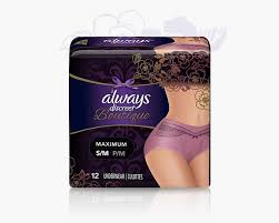 Always Discreet Boutique Purple S M Womens Incontinence