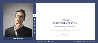simple resume website 20 creative resume website templates to improve your online presence