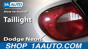 Dodge Neon Brake Light How To Replace Tail Light 00 05 Dodge Neon