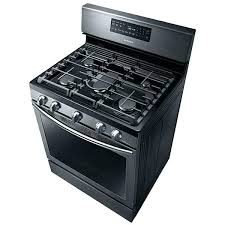 gas ft free standing range with convection black stainless stove top samsung glass replacement